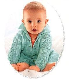 Ярко-голубой комбинезон   Вязание для детей   Вязание спицами и крючком. Схемы вязания.