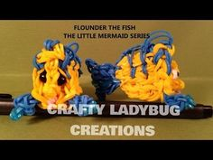 Rainbow Loom FLOUNDER (Little Mermaid). Designed and loomed by Crafty Ladybug. Click photo for YouTube tutorial. 05/01/14.