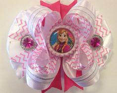 Frozen Princess Anna Pink Hair Bow