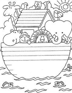 Noah\'s Ark Craft This folded paper envelope with ark animals inside ...