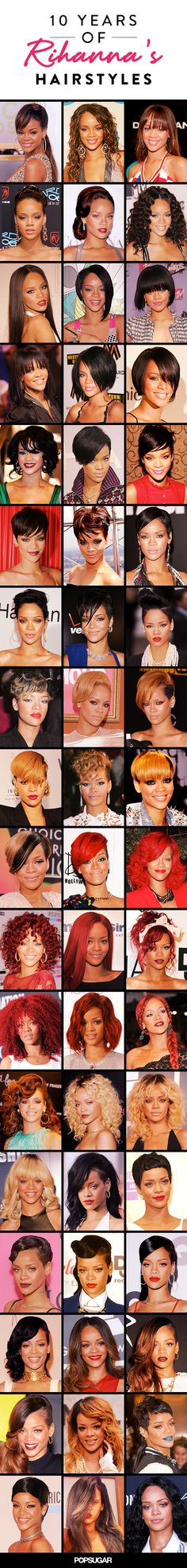 Which of Rihanna's hairstyles is her most daring?