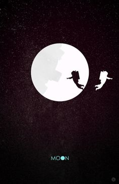 "minimalist movie posters ""Moon"""
