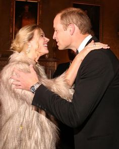 The Duke of Cambridge is greeted by Joss Stone during the Tusk Trust conservation charity 25th Anniversary Ball which honours the charity's impact in the midst of the continuing crisis facing wildlife in Africa on September 17, 2015 at Syon House, Brentford, London.