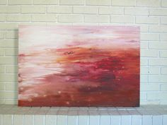 """Mixed Media Acrylic Original Large Abstract Landscape Painting 24 x 36"""" Red Earth - pinned by pin4etsy.com"""