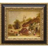 Found it at Wayfair - Swan Inn, Giclee on Framed Canvas