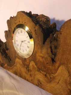 Burl oak desk clock, made of rare burl oak http://timberwonderland.com/shop/decoration/burl-oak-wooden-desk-clock/
