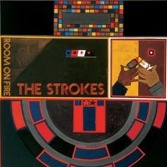 """The second studio album by American indie rock band The Strokes, """"Room on Fire"""" features a slightly smoother sound than its predecessor. With the hit """"Reptilia,"""" this album was certified gold in Kings Of Leon, Radiohead, Lp Vinyl, Vinyl Records, Rca Records, Vinyl Room, Vinyl Music, The Strokes Albums, Fire Cover"""