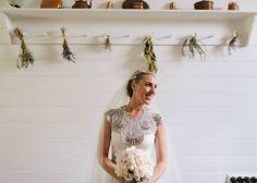 Stunning Lara in 'Hope' Wedding Dress by Gwendolynne - Image by www.beckrocchi.com.au