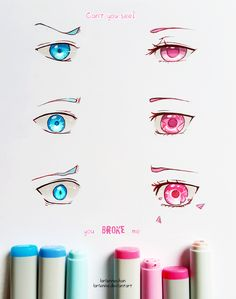 fire and ice eyes copic markers Manga Eyes, Anime Eyes, Drawing Tips, Drawing Reference, Arte Fashion, Poses References, Eye Art, Copics, Art Tips