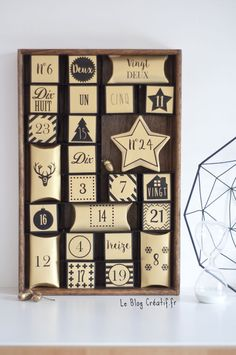 calendrier avent etagere