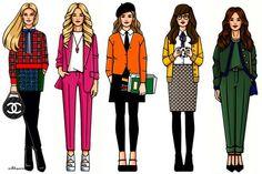 Os desenhos de moda de Girls In Bloom