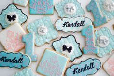 Breakfast At Tiffany's  First Birthday Dessert Table by Make Fabulous Cakes