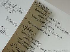 Elaine & John Boland by Jagdeep Sahans, via Behance Hereford Beef, Organic Salmon, Wedding Calligraphy, Behance, Invitations, Diy Wedding Calligraphy, Save The Date Invitations, Invitation