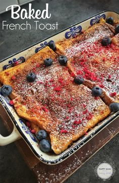 Bookmark this and prepare it tonight for tomorrow . Best French Toast, French Toast Bake, Healthy Breakfast Recipes, Healthy Breakfasts, How To Make Breakfast, Morning Food, Happy Kids, Kids Meals, Vegan Vegetarian