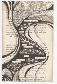 Blackout Poetry is so much fun and so easy to do. Find an old book, choose a page, select words from the page that reflect your feelings, i...