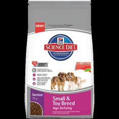 Hill's® Science Diet® Senior 11+ Small & Toy Breed Age Defying dog food provides precisely balanced, easy-to-digest nutrition tailored to ol...