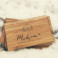 Wishing Amy all the best at her launch of @Mahana_interior_design tonight in Sydney!!  thanks for letting us help create such an important part of your branding! Bamboo business cards