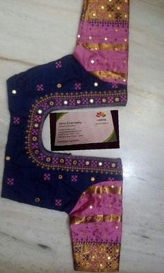 Simple Blouse Designs, Saree Blouse Neck Designs, Dress Neck Designs, Bridal Blouse Designs, Simple Embroidery Designs, Hand Work Embroidery, Mirror Work Blouse Design, Kutch Work Designs, Designer Blouse Patterns