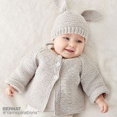 Latest Free of Charge Crochet baby jacket Suggestions Easy Rib Baby Jacket Strickanleitung Bernat Knit Baby Jacket Set Gratisanleitung # #