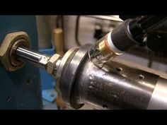 My first Welding Lathe made from a Old Bicycle - YouTube
