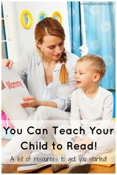 Teach Your Child to Read at Home! My plan and a list of resources to help you on your journey to teach your child how to read!