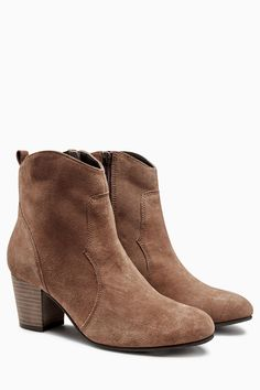 Buy Leather Material Mix Lace Up Ankle Boot from the Next UK