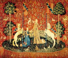 The Lady and the Unicorn tapestry, (Cluny Museum, Paris)