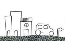 Jogos de pintar online para crianças: Cidade