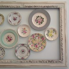 Fun idea for displaying vintage plates.