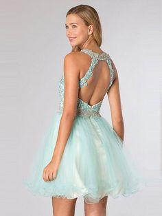 High Neck Sleeveless Short/Mini Cheap Prom/Cocktail Dresses CD0859