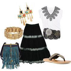 """Estilo Hippie Chic"" by outfits-de-moda on Polyvore"