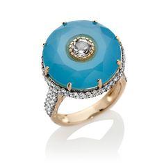 Chalcedony and White Topaz Vermeil Ring at HSN.com #glinda #DisneyOz
