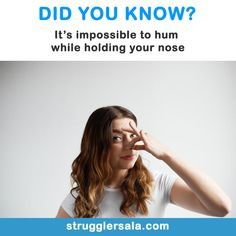 You just tested it, didn't you? Normally, when you hum, the air is able to escape through your nose to create the soun…