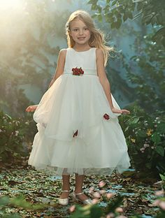 Disney's Fairy Tale Weddings by Alfred Angelo Sleeping Beauty flower girl dress, Style 719 #wedding #flower #girl