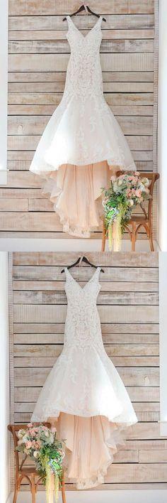 V-Neck Wedding Dress, White Wedding Dress, Wedding Dress For Cheap, Lace Wedding Dress, White Lace Wedding Dress, Wedding Dresses 2018 #Wedding #Dresses #2018 #White #Dress #VNeck #For #Cheap #Lace #VNeckWeddingDress #LaceWeddingDress #WhiteLaceWeddingDress #WeddingDresses2018 #WhiteWeddingDress #WeddingDressForCheap