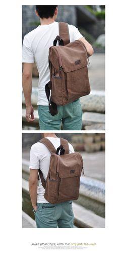 Aliexpress.com da Bagaj & Çanta dan Sırt çantaları deki 2014 erkek sırt erkek tuval sırt çantası bağbozumu seyahat çantası tiki tarzı öğrencinin okul çantası