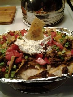 Super easy delicious Nachos made in the ninja cooking system.