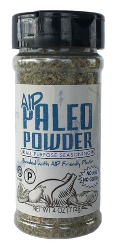 Paleo Powder AIP (Autoimmune Protocol) all purpose seasoning blend. If you have a leaky gut, chronicinflammationor any type ofautoimmune condition, this blend is made especially for you. Formulated with ingredientscompatiblewithdietary guidelines for those with autoimmune disease (no gut irritants, here!), this all purpose seasoning has the perfect seasoning blend toenhance your AIP-friendly meals, including chicken, fish, steak and (nightshade-free) veggies.