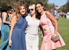 Sasha Alexander, Anna Faris and Rosario Dawson attend the Fifth-Annual Veuve Clicquot Polo Classic at Will Rogers State Historic Park on October 11, 2014 in Pacific Palisades, California