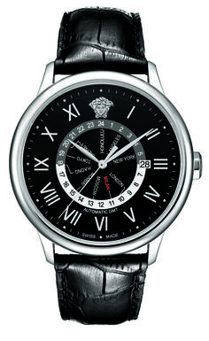 Versace Business GMT Black Dial Introduced at Baselworld 2012 - 30A99D008 S009.