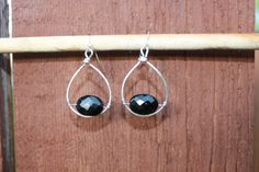 Hammered Sterling Silver and Spinel Earrings, by Cindy Larson Accessories