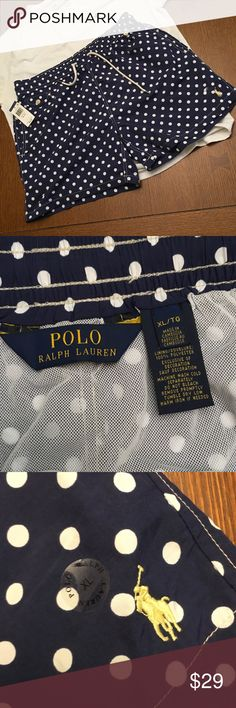 NWT POLO SWIM TRUNKS NWT POLO SWIM TRUNKS with double front pockets, 1 back pocket and 1 small buttoned pocket on front. Drawstring waist, mesh lining. Polo by Ralph Lauren Swim Swim Trunks