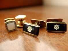 Yeah, I know -- what the hell am I going to do with cufflinks?  I love the idea of them, the glamour and these are just lovely to look at.