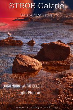 """High Moon"" at the Beach Photo Art Gallery, Photo Galleries, Gloucester Massachusetts, Harbor Bay, Good Things Take Time, Photo Style, Fine Art Photo, 2 Photos, Salzburg"
