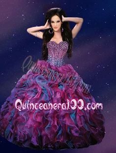Fashionable Sweetheart Purple 2014 Quinceanera Dresses with Beading