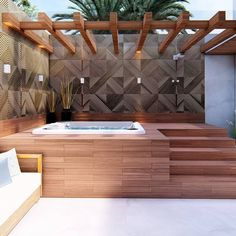 [New] The 10 Best Home Decor (with Pictures) - Absolutely what i need right now. Hot Tub Backyard, Hot Tub Garden, Small Backyard Pools, Jacuzzi Outdoor, Outdoor Spa, Outdoor Rooms, Decor Interior Design, Interior Decorating, Hot Tub Room