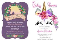 Ideias de decoração, lembrancinhas, bolos, doces e convites charmosos para um chá de bebê unicórnio! Venha se inspirar para fazer uma festa inesquecível! Unicorn Cafe, Rsvp, Sweet Cakes, Invitations, Decorating Ideas, Party