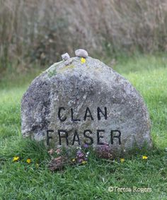 Clan Fraser stone at Culloden Moor, Scotland, marking burial place of fallen Frasers during the Battle of Culloden on April 16, 1746. | Outlander S1E5 'Rent' on Starz || photo taken by me Sep 2009