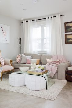 Pink + White Home Decor Inspiration via @jillianmharris