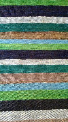 Striped mohair carpet
